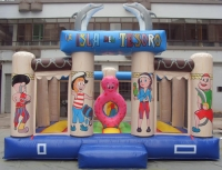Bouncy castle inflatable Treasure Island