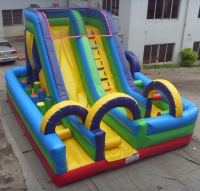 Slide inflatable laberinto