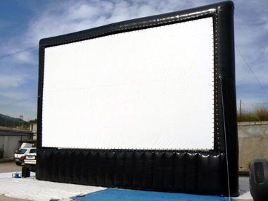 Pantallas de cine gigantes hinchables proyección